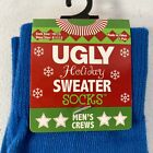 Christmas Holiday Ugly Sweater Men's Dress Casual Novelty Crew Socks 10 - 13