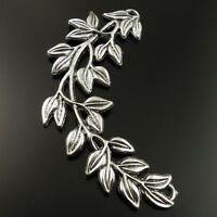 Antiqued Silver Vintage Foliage Tree Branch Spring Pendant Connector 5pcs