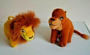 Vintage 1998 Lion King II McDonalds Plush Toys Mufasa Nala