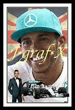 LEWIS HAMILTON - FORMULA 1 CHAMPION - PORTRAIT POSTER - REALLY COOL ARTWORK!!!