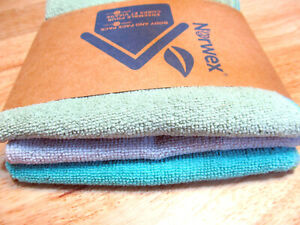 Norwex Face and Body Cloth Set 3 Santorini Beach Green Limited Edition Colors