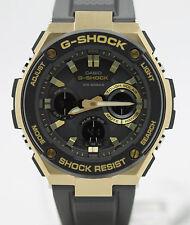 New Casio G-Shock G-Steel Tough Solar Black Resin Strap Men's Watch GSTS100G-1A
