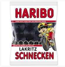 Haribo Licorice Snails / WHEELS gummy bears-Free Shipping from USA