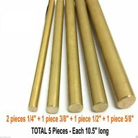 "1//4/"" x 2/"" C360 BRASS FLAT BAR 4/"" long Solid Plate Mill Stock H02 .25/""x 2.00/"""