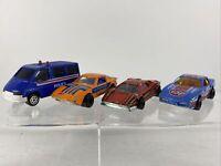 Majorette Vintage Diecast Lot of 4 -Mazda RX7 Corvette Lamborghini Sonic Flasher