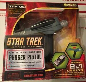 Star Trek Classic Art Asylum / Diamond Select Classic Phaser Toy Prop! Kirk Gun