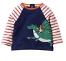 Ex Baby Boden Navy Long Sleeve Baby Boys Dragon Top T shirt  0-3 Mths - 4 Yrs