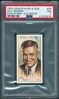 1934 John Player #39 WILL ROGERS PSA 7 (Pop:3, Higher:2) Highest a PSA 8 [BBE]
