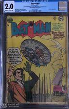 Batman 81 CGC 2.0 OW/W Pages Golden Age BATMAN TWO-FACE