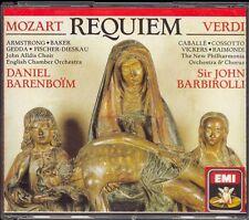 MOZART & VERDI - Requiem - Daniel BARENBOIM / John BARBIROLLI - EMI 2CDs