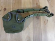 Vintage US MILITARY Water Canteen Cover Pouch on Adjustable Belt Green M1956