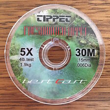 Fly Fishing Tippet Material 5X 4lb 30m Delta Ultraclear Best Cast Tippet