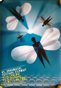 Original Polish Poster for 45th Krakow Film Festival 2005.  Beautiful!