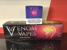 VENOM VAPES #9 THE BLUES. BLUEBERRY HINT OF BLACKBERRY 3mg Nic, 30x 10ml Bottle