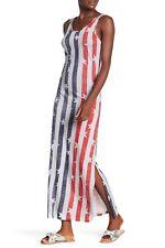 Alternative USA Scoop Neck Print Maxi Dress Stripes N Stars $88.00 - SIZE L -NWT
