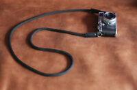 Windmup  Black nylon 8mm shorten handmade Camera neck strap
