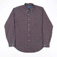 Vintage RALPH LAUREN Classic Fit Red 90s Long Sleeve Casual Shirt Mens XL