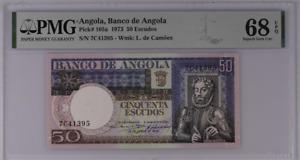 Angola 50 Escudos 1973 P 105 a Superb Gem UNC PMG 68 EPQ Top Pop