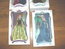 """Lot of 7 Limited Edition November Disney Anna & Elsa Frozen Doll 17"""" LE 2nd&3rd"""