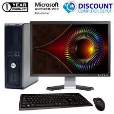 Dell Desktop Computer Optiplex Core 2 Duo 4GB 250GB HD Windows 10 PC wifi 19 LCD
