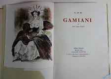 MUSSET Gamiani ou deux nuits d'excès. Lithographies de B. Saint-André 2 SUITES