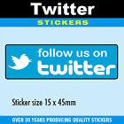 Follow US On Twitter Aufkleber 15 x 45mm - Professionell Bedruckt - 4 Packung Gr
