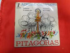 DISCO 45 giri .-     Adriano Celentano – Pitágoras  --ED spagnola   1960