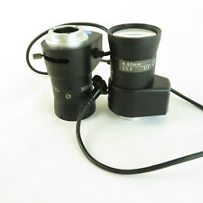 "Lot (2) CCTV Camera Lens 6-60mm 1/3"" 1:1.4 Wide Tele"