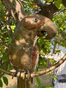 Vintage SERGIO BUSTAMANTE Copper Brass Parrot Bird Sculpture Mid Century Jere