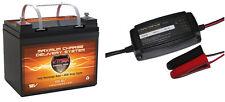 V35-857 + BC1204 AGM 12V Battery for 18-40lb Trolling Motor + Charger/Maintainer