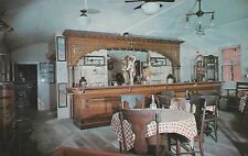 *(N)  Val Verde City, TX - Old Western Saloon Replica - Interior Bar and Tables