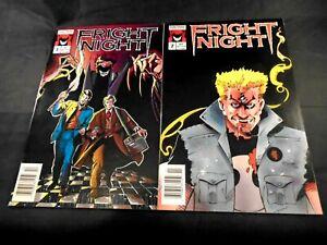 fright night comics #1 and #2 now comics VF  Newsstand L55