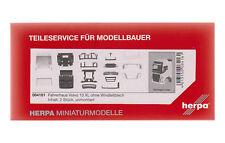 #084161 - Herpa Volvo FH GL XL Fahrerhaus ohne Windleitblech (2 Stück) - 1:87