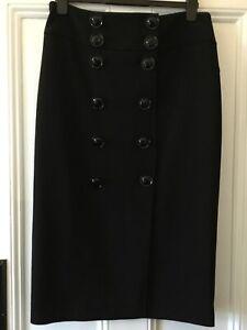 Jaeger Size 14 Skirt Black Amazing