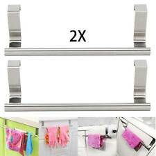 2x 23cm Over Kitchen Cabinet Door Tea Hand Towel Rail Holder Hanger Storage Rack