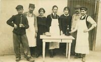 C-1910 Occupation Workers Wine Tasting RPPC real photo Postcard 20-2728