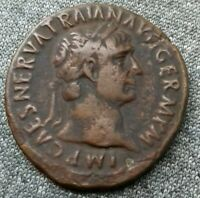 Trajan . Rome As Bronze SPQR ric 434