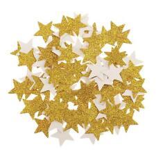 100pcs Confettis Paillette Etoile Doré Décoration de Table Topper de Cupcake