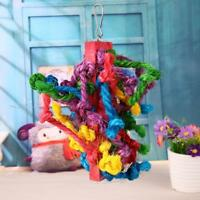 Colorful Sisal Pet Bird Cotton Rope Chewing Parrot Playing Play Climbing Toys