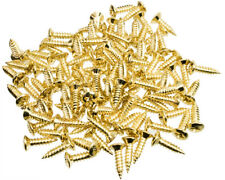 100 Pack of Pickguard Screws to fit Fender, etc, Gold Finish