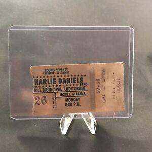 Charlie Daniels Band Mobile Municipal Auditorium AL Ticket Stub December 1977