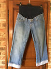 jeans pantacourt de grossesse t 38 kiabi maman