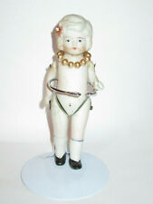 Antique Small Bisque Doll, Japan, Vintage, Jointed, Painted   (W)