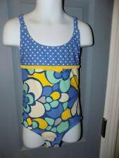Mini Boden Polka-Dot/Flower Bathing Suit Size 5/6Y Girl's Euc