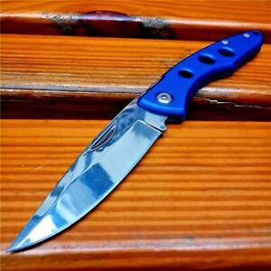 Drop Point Folding Knife Pocket Hunting Survival Tactical Combat Aluminum Handle