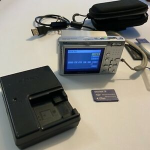 Sony Cyber-Shot DSC-T9 6.0MP Digital Camera - Batteries, Charger, Case, cards