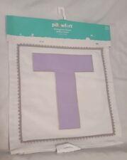 New Pillowfort Monogram Throw Pillow Cover Slipcover Light Purple Letter T 16X16
