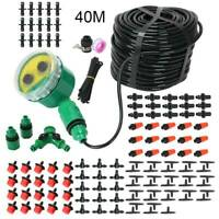 40M Automatic Drip Irrigation System Kit Plant +Timer Self Watering Garden Hose