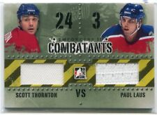 2013-14 ITG Enforcers Combatants 19 Scott Thornton Paul Laus Dual Jersey /150