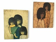 JEF WAUTERS (1923-2013) / Vintage Kinderbild Zwei Mädchen + Claire Lier Wir Drei